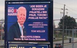 U Americi Bidenovi plakati sa porukom na bosanskom jeziku