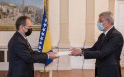 Džaferović primio akreditive novog ambasadora Švicarske u BiH