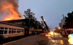 Požar na školi u Zagrebu, na terenu 30-ak vatrogasaca, policija…